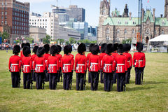 Changing of Guard in Parliament Hill, Ottawa Canada Stock Image