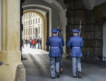 Changing the Guard at Prague Castle stock images