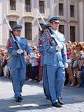 Changing of the guard, Prague, Czech Republic Stock Photo