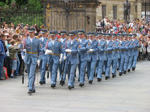 Changing of the guard, Prague, Czech Republic Royalty Free Stock Images