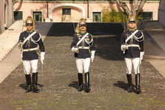 Changing the guard. Presidential Palace. Lisbon. Portugal Royalty Free Stock Image