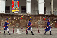 Changing of the Guard, Presidential Palace, Quito Royalty Free Stock Photos