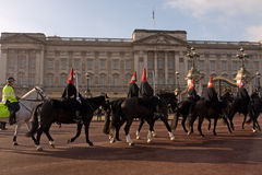 Changing the Guard, Royal Horse Guards. Royalty Free Stock Photo