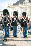 Changing of the guard at the royal palace in Copenhagen Royalty Free Stock Photo