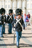 Changing of the guard at the royal palace in Copenhagen Royalty Free Stock Photography