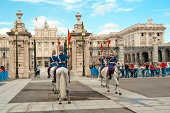 Changing of the Guard - Royal Palace of Madrid Royalty Free Stock Photography