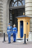 Changing of the guard at the Royal palace, Stockholm royalty free stock photo