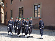 Changing of the guard at the Royal Palace Sweden Stock Photography
