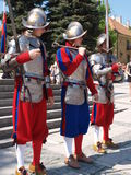 Changing of the guard, Sandomierz, Poland Royalty Free Stock Photo