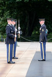 Changing of the guard at the Tomb of the Unknown at Arlington Ce Stock Image