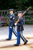Changing of the guard at the Tomb of the Unknown at Arlington Ce Royalty Free Stock Photo