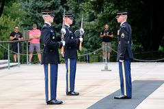 Changing of the guard at the Tomb of the Unknown at Arlington Ce Stock Photos
