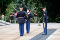 Changing of the guard at the Tomb of the Unknown at Arlington National Cemetery Royalty Free Stock Photography