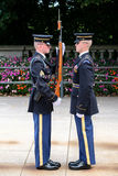 Changing of the guard at the Tomb of the Unknown at Arlington National Cemetery Stock Photography