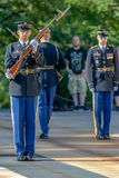 Changing of the guard at the Tomb of the Unknown Soldier at Arlington National Cemetery royalty free stock photos