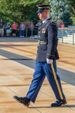 Changing of the guard at the Tomb of the Unknown Soldier at Arlington National Cemetery royalty free stock image