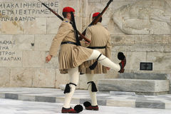 Changing Guards. Guards changing in Athens, Greece stock photos