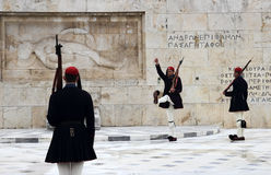 Changing of the Guards in Athens Stock Photo