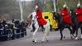 Changing the Guards at Buckingham Palace stock video