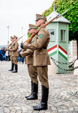 Changing of the Guards in the Buda Castle Royalty Free Stock Photos