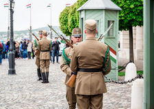 Changing of the Guards in the Buda Castle Stock Images