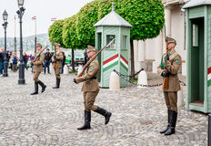 Changing of the Guards in the Buda Castle Stock Photography