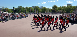 Changing the Guards ceremony at Buckingham Palace London UK Royalty Free Stock Photos