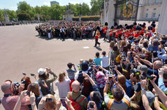 Changing the Guards ceremony at Buckingham Palace London UK stock images