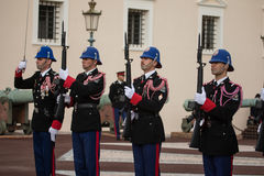 Changing of the guards ceremony in Monaco Stock Images