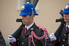Changing of the guards ceremony in Monaco Royalty Free Stock Image
