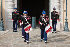 Changing of the guards ceremony in Monaco Stock Photo