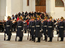 Changing of the Guards Ceremony, Moscow Kremlin Complex, Russia Royalty Free Stock Photos