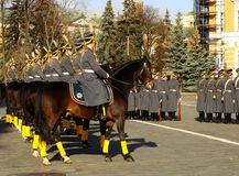 Changing of the Guards Ceremony, Moscow Kremlin Complex, Russia Stock Images