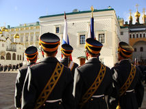 Changing of the Guards Ceremony, Moscow Kremlin Complex, Russia Stock Photo