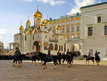 Changing of the Guards Ceremony, Moscow Kremlin Complex, Russia Stock Photos