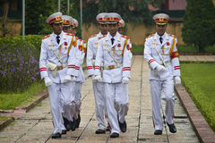 Changing guards at Ho Chi Minh mausoleum Stock Image