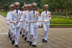 Changing guards at Ho Chi Minh mausoleum Royalty Free Stock Photo