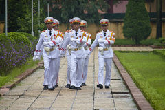 Changing guards at Ho Chi Minh mausoleum Stock Photos