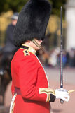 Changing the guards, London. Detail on a fanfare ceremony at Buckingham palace, London Royalty Free Stock Photos