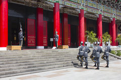 Changing guards in Martyrs Shrine. Changing guards ceremony in Martyrs Shrine, Taipei, Taiwan Stock Photography