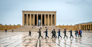 Changing of the guards in mausoleum of Ataturk in Ankara Stock Images
