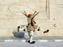 Changing guards near parliament at Athens Royalty Free Stock Photos