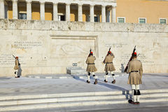 Changing guards near parliament at Athens Stock Images
