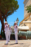 Changing guards at the palace, Monaco-ville, Monaco Stock Photography