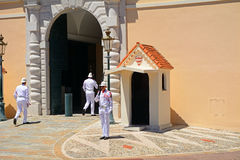 Changing guards at the palace, Monaco-ville, Monaco Stock Image