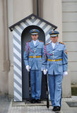 CHANGING OF THE GUARDS AT PRAGUE CASTLE Stock Image