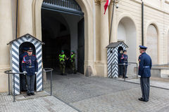 Changing of the guards of Prague Castle. Prague, Czech Republic Royalty Free Stock Photos
