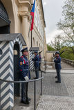 Changing of the guards of Prague Castle. Prague, Czech Republic Royalty Free Stock Photo
