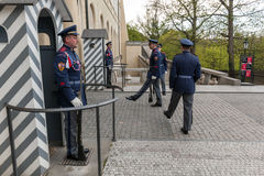 Changing of the guards of Prague Castle. Prague, Czech Republic Stock Photography
