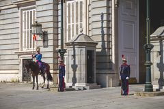 Changing of the Guards, Royal Palace Madrid Stock Photo
